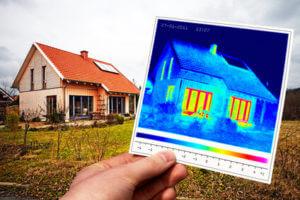 Foto Grafik Haus Wärmebild