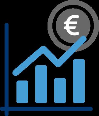 balkendiagramm erfolg eurozeichen diagramm grafik