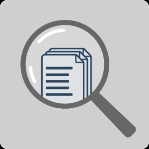 Umfassende Unterlagenrecherche Lupe Dokumente