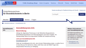 Screenshot Immobilienpreis-Info Berlin.de