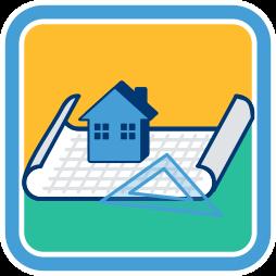 Plan Papierrolle Haus Aufbau Liegenschaftskataster