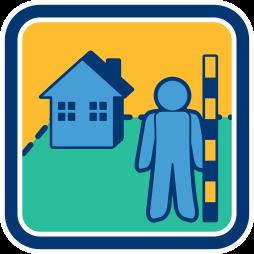Haus Grundstück Landvermessung Vermessungen Kataster