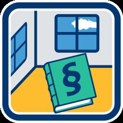 Grafik-Icon: Wohnung Buch Paragraphenzeichen ~ Wohnungseigentumsgesetz WEG