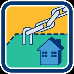 Grafik-Icon Bankdarlehen Grunstück Haus als Sicherheit immoeinfach.de Belastungsvollmacht im Kaufvertrag