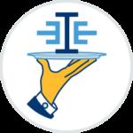 Icon innoeinfach Logo auf Silbertablett Informationspflichten