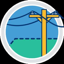 2D Icon Grafik Kommunikation Leitung