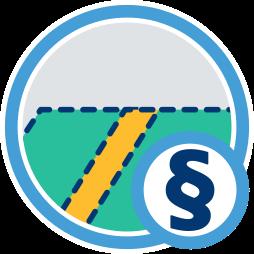 2D Icon Grafik Grundstück Grenze