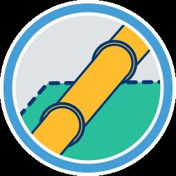 3D Grafik Icon Gasleitung