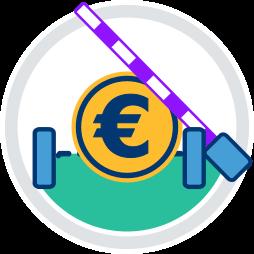 2D Icon Grafik Schranke Geld