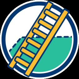 2D Icon Grafik Leiter