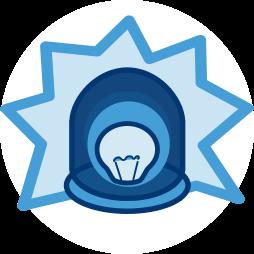 2D Grafik Icon Blaulicht