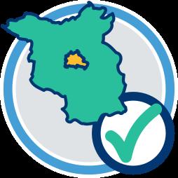 2D Grafik Icon Karte Berlin Brandenburg