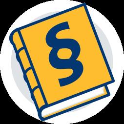Grafik: Buch Icon BGB Bürgerliches Gesetzbuch ~ Rechtliche Regelungen