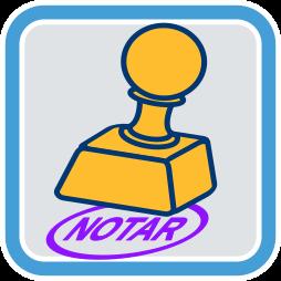 Stempel Notar Schriftzug Notare neutral