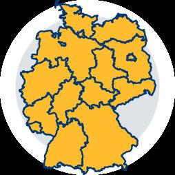 Karte Bundesrepublik Deutschland Bedürfnisprüfung