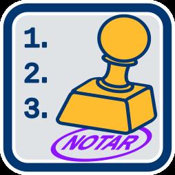 Stempel Notar merkmale Notarberuf