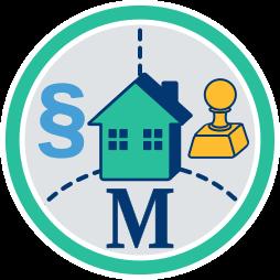 Recht Stempel Makler Haus Immobilie Notar neutral Parteivertreter