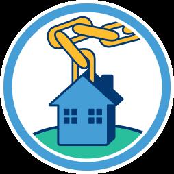 Grafik: Haus an der Kette - Sicherheit Hypothekenkredit