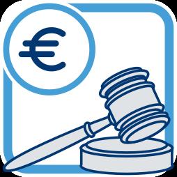 Grafik-Icon Versteigerung Hammer - Typischer Fall aus der Praxis