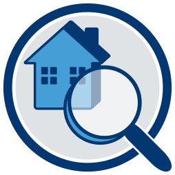 Grafik-Icon Haus unter der Lupe - Haftung  Makler