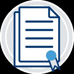 Grafik-Icon Dokument mit Siegel