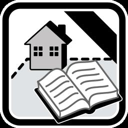 Grafik Icon Haus Grundstück Immobilie Grundbuch SW
