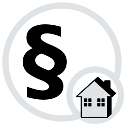 Icon Grafik Paragrafenzeichen Haus