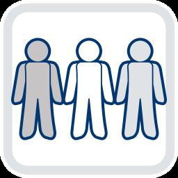 2D Grafik Icon drei Personen