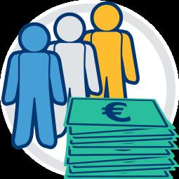 Grafik Icon Erben Geld