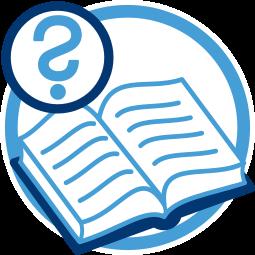 Grafik Icon Grundbuch Fragezeichen