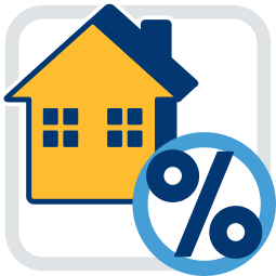Icon Grafik Haus Prozentzeichen