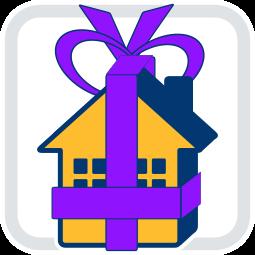 Grafik Icon Haus Geschenk