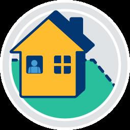 Grafik Icon Haus Bewohner