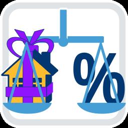 Garfik Icon Waage Haus Schenkung Steuer