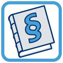 2D Icon Grafik Gesetzbuch