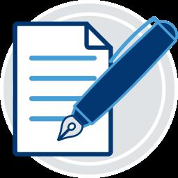 dokument stift schreiben