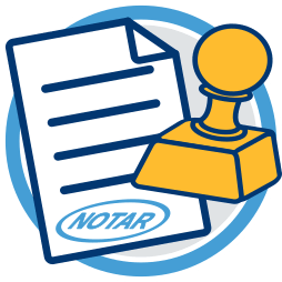 2D Icon Grafik Dokument Notarstempel