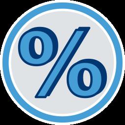 2D Icon Grafik Prozentzeichen