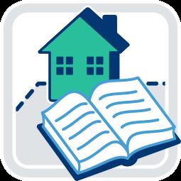 Icon Grafik Grundbuch Haus Immobilie Grundstück
