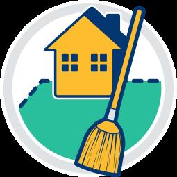 Grafik Icon Immobilie Haus Grundstück Besenrein