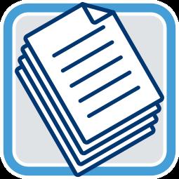 Grafik Icon Stapel Dokumente Unterlagen