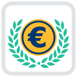 Icon Grafik Euromünze Lorbeerkranz