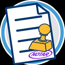 Grafik Icon Dokument Notarstempel