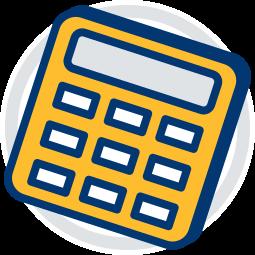2D Icon Grafik Taschenrechner