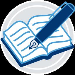 Icon Grafik Grundbuch Füller Stift
