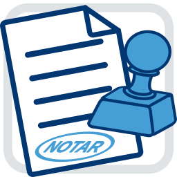 Icon Grafik Dokument Notar Stempel