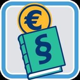Icon Grafik Gesetz Geld Gebühren