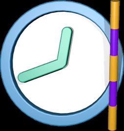 3D Icon Grafik Uhr Vermessungsstab