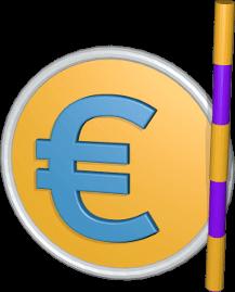 Grafik Icon 3D Eurosymbol Vermessungsstab