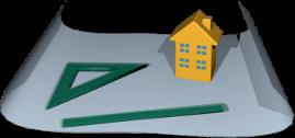 3D Icon Grafik Grundstück Plan Immobilie